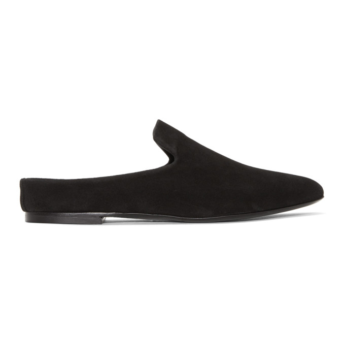 Image of Woman by Common Projects Black Suede Loafers