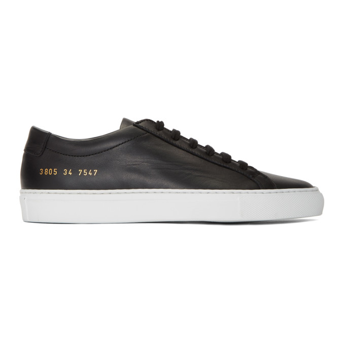 Woman by Common Projects Black & White Original Achilles Low Sneakers