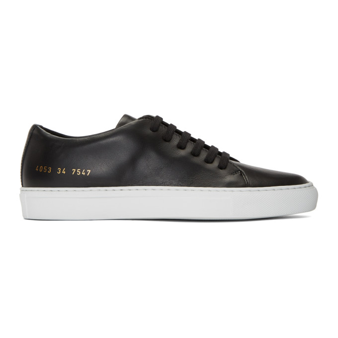 Image of Woman by Common Projects Black & White New Court Low Sneakers
