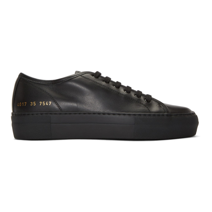 Image of Woman by Common Projects Black Tournament Low Super Sneakers