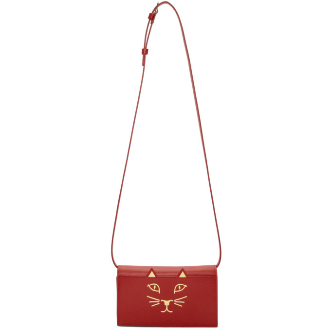 Charlotte Olympia Red Feline Shoulder Bag