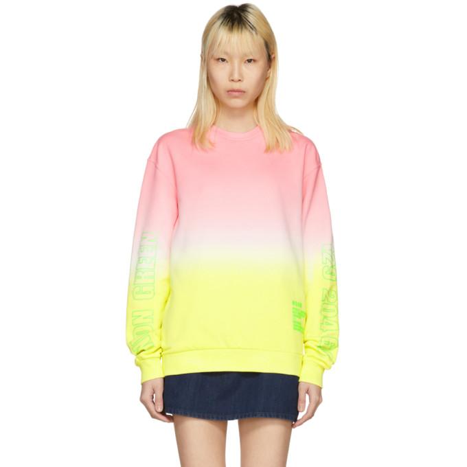 MSGM Pink Tie-Dye Sweatshirt