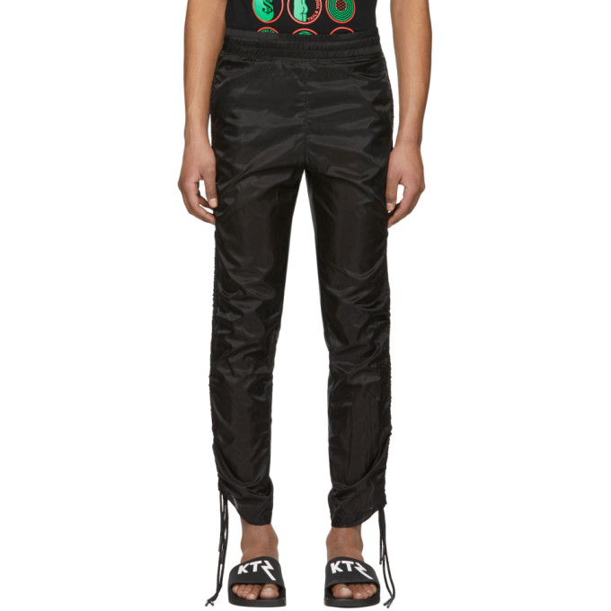 Image of KTZ Black Drawstring Corded Lounge Pants