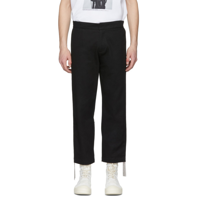 KTZ Pantalon noir Side Chainmail