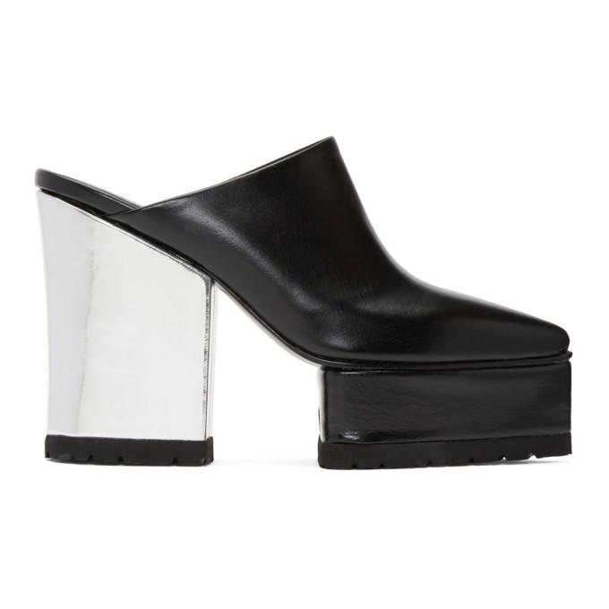 Sacai Black High Clog Heels