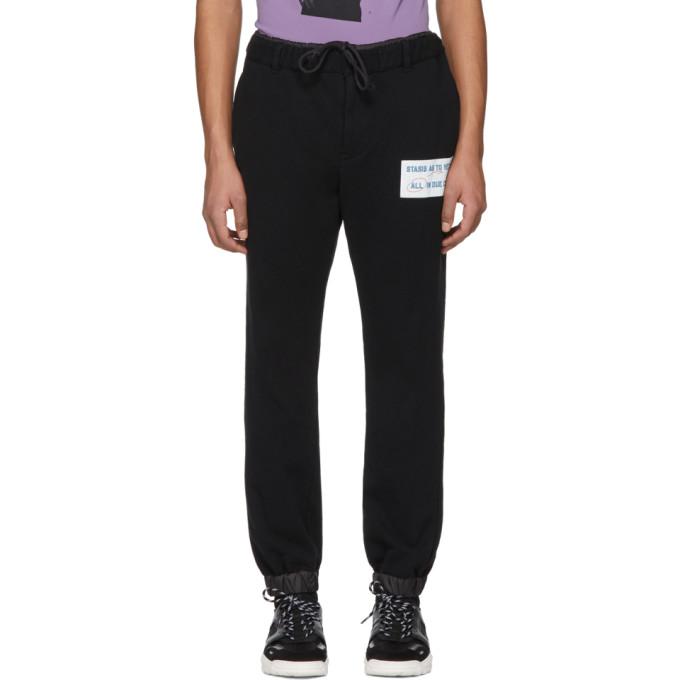 Sacai Pantalon de survêtement noir 'Stasis As To Vector'