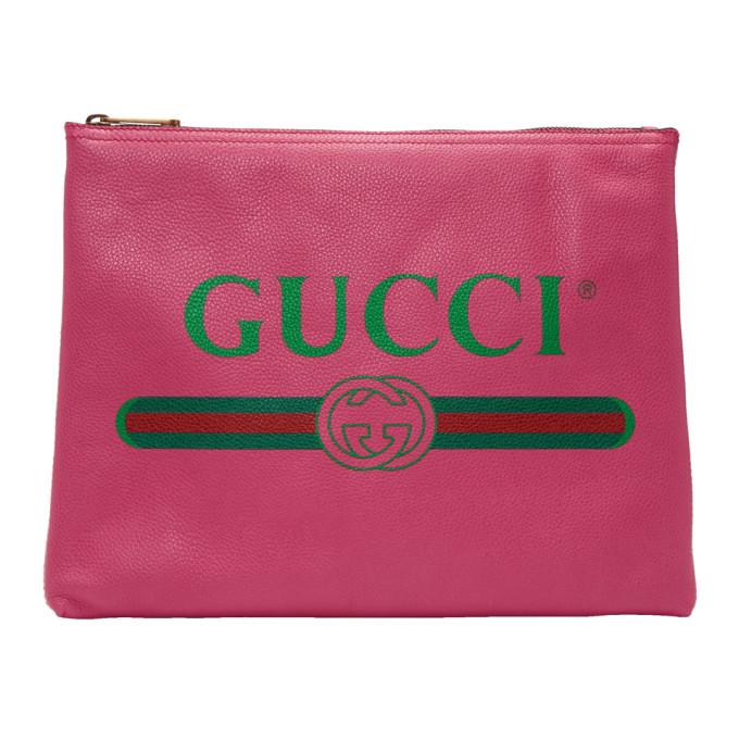 Gucci Pink Medium Fake Gucci Pouch