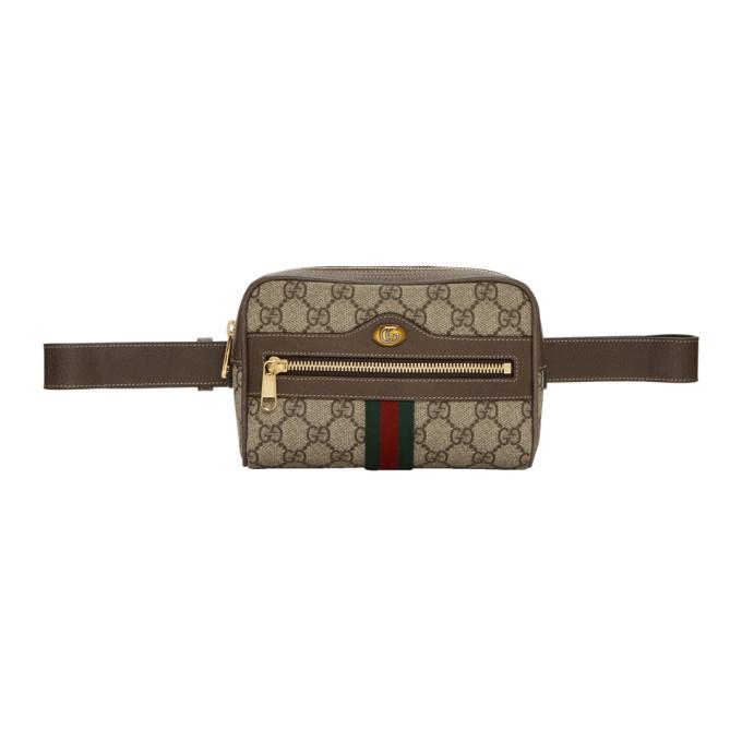Gucci ブラウン スモール GG スプリーム オフィディア ベルト バッグ