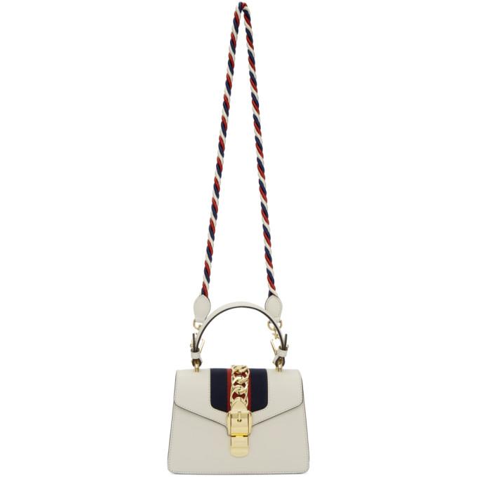 Gucci White Mini Sylvie Bag