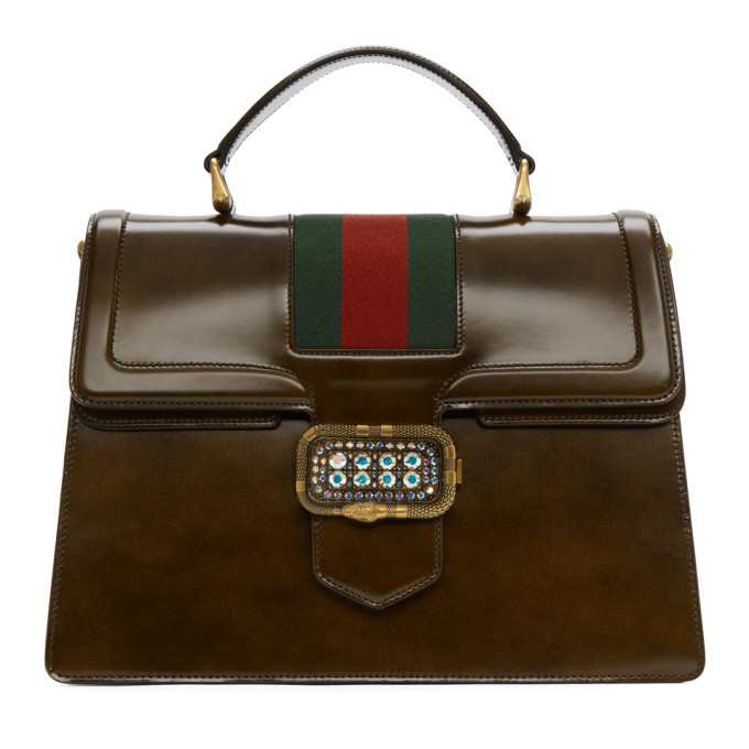 Gucci Brown Medium Borsa Snake Bag