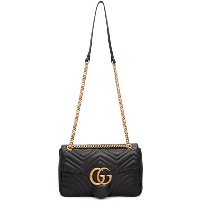 Gucci Black Medium Marmont 2.0 Bag