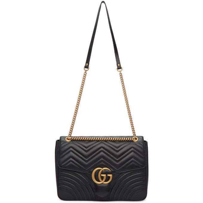 Gucci Black Large GG Marmont 2.0 Bag