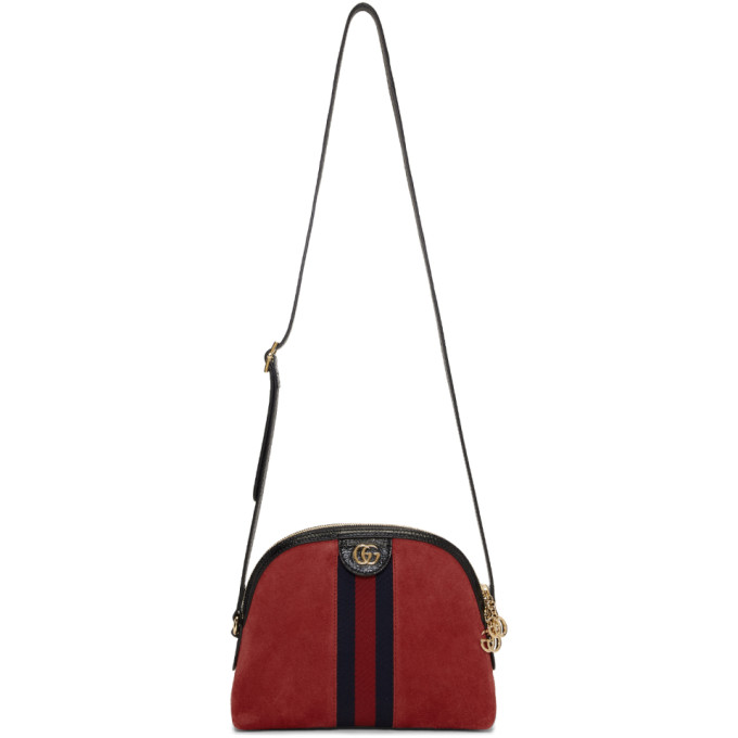 022bb8ad95bd44 Gucci Red Small Suede Ophidia Bag