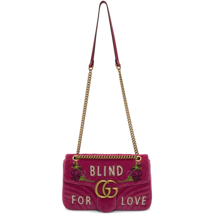 Gucci Pink Medium GG Marmont 2.0 'Blind For Love' Bag