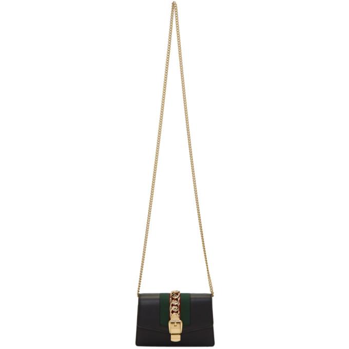 Gucci Black Super Mini Sylvie Bag