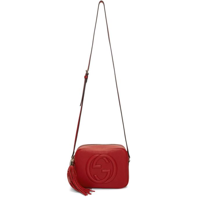 Gucci Red Small Soho Camera Bag