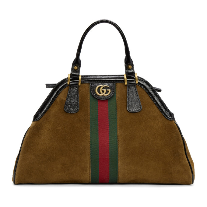 Gucci Brown Medium Suede Ophidia Bag
