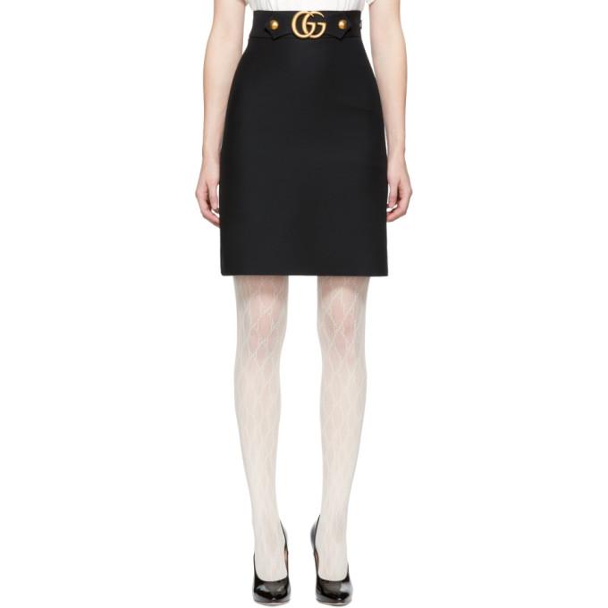 Gucci ブラック GG ベルト ミニスカート
