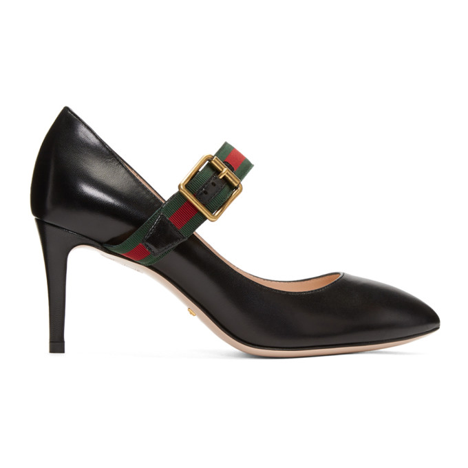 Gucci Black Ribbon Heels