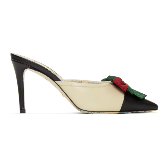 Gucci Black & White Sackville Heels