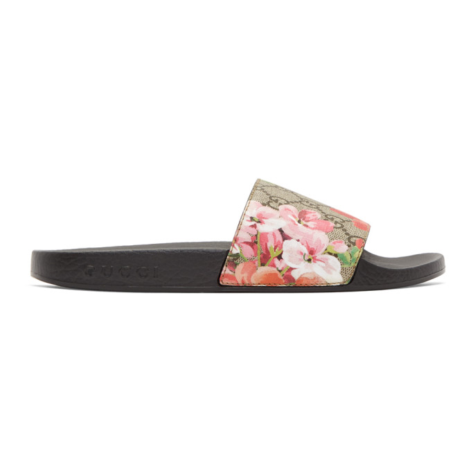 Gucci Multicolor GG Blooms Supreme Pursuit Slides