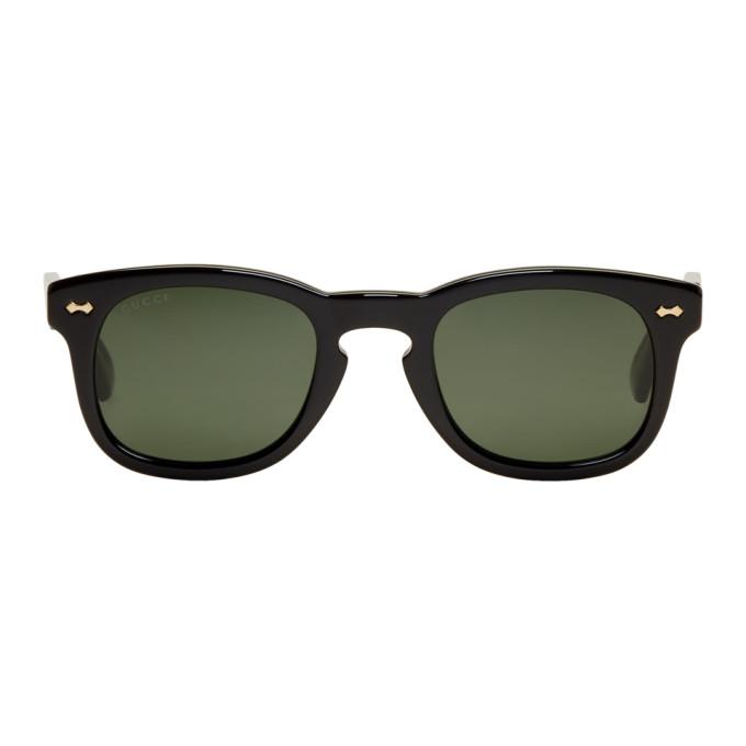 Gucci Black Opulent Luxury Square Sunglasses
