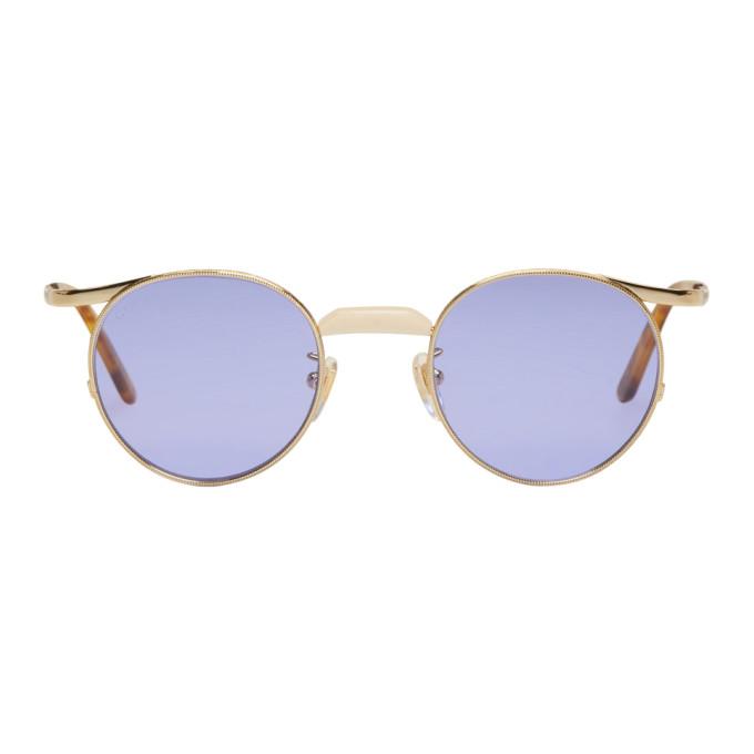 Gucci Gold Endura Round Sunglasses