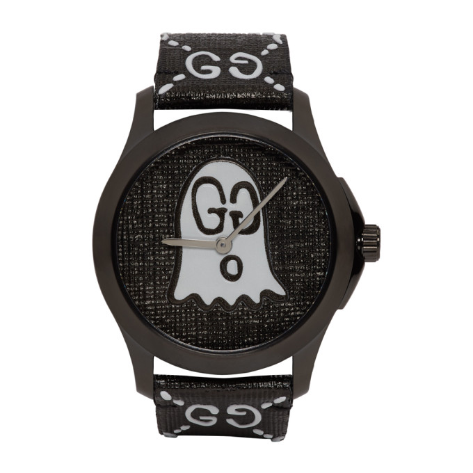 Gucci Black G Timeless GucciGhost Watch