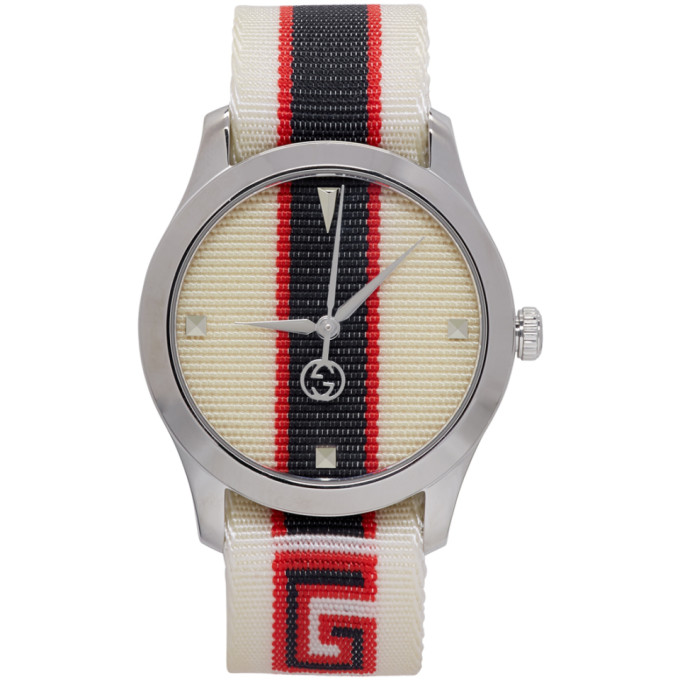 Gucci White G Timeless Logo Watch