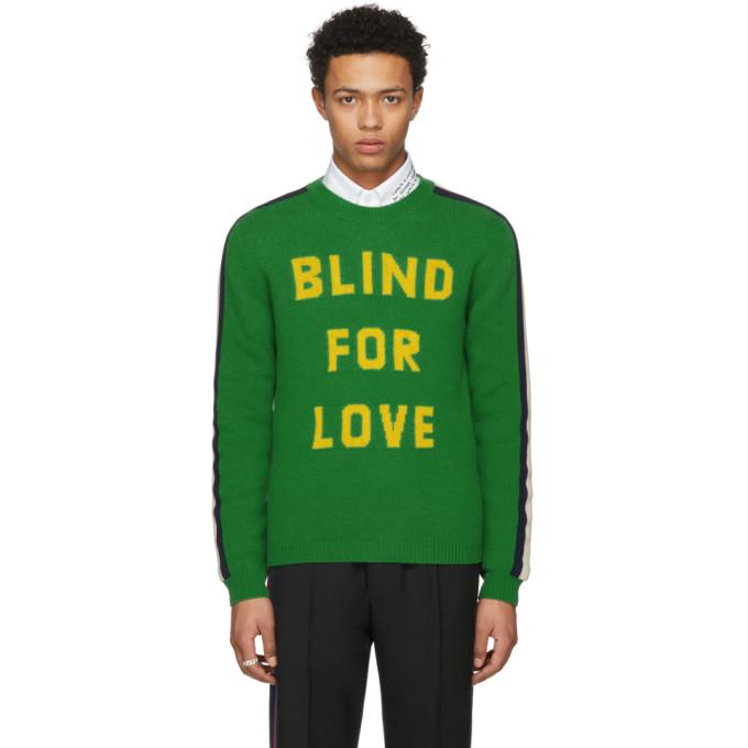 Gucci グリーン Blind For Love キングスネーク セーター