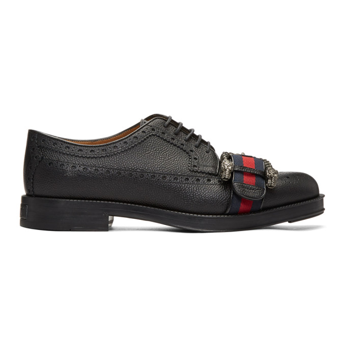 Gucci Black Beyond Tag Brogues