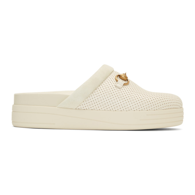 Gucci Off-White Mallorca Slip-On Loafers