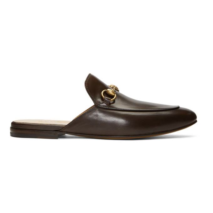 Gucci Brown Kings Slip-On Loafers