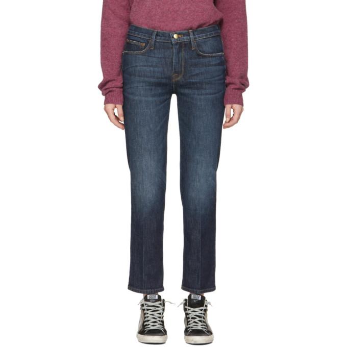 FRAME Blue Le Nouveau Straight Jeans