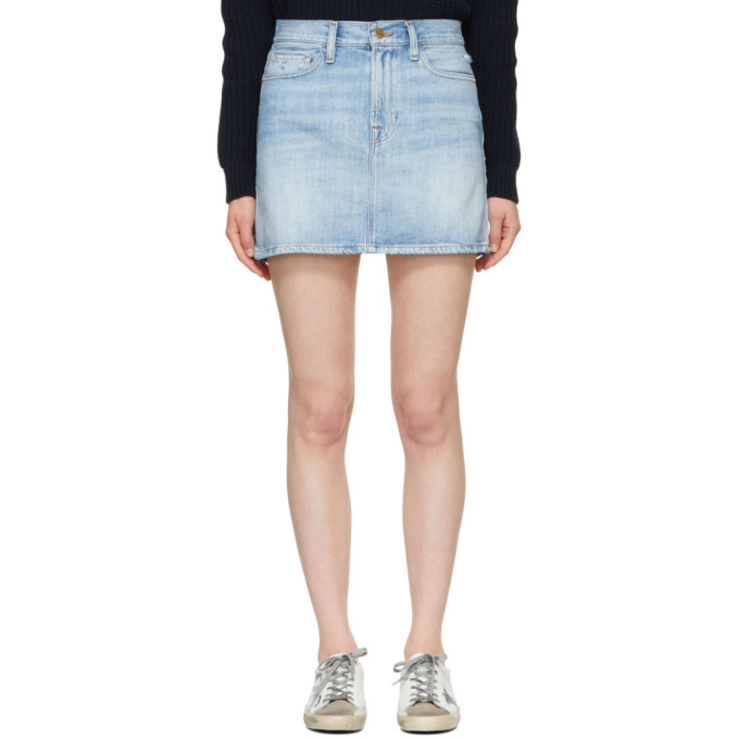 FRAME Blue Le Mini Denim Miniskirt