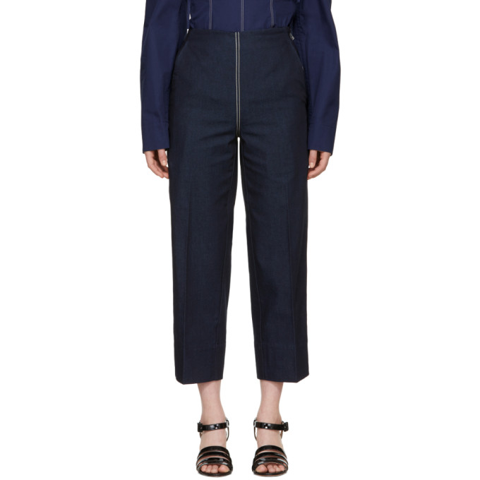 Image of Cédric Charlier Blue Front Zip Jeans