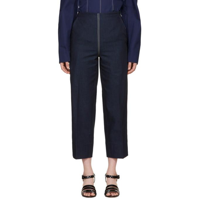 Cedric Charlier Jean bleu Front Zip