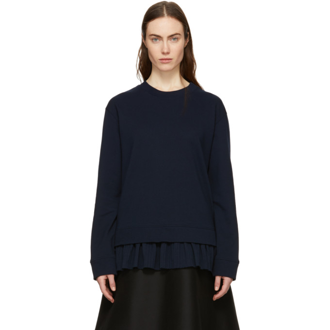 Image of Cédric Charlier Navy Frill Sweatshirt