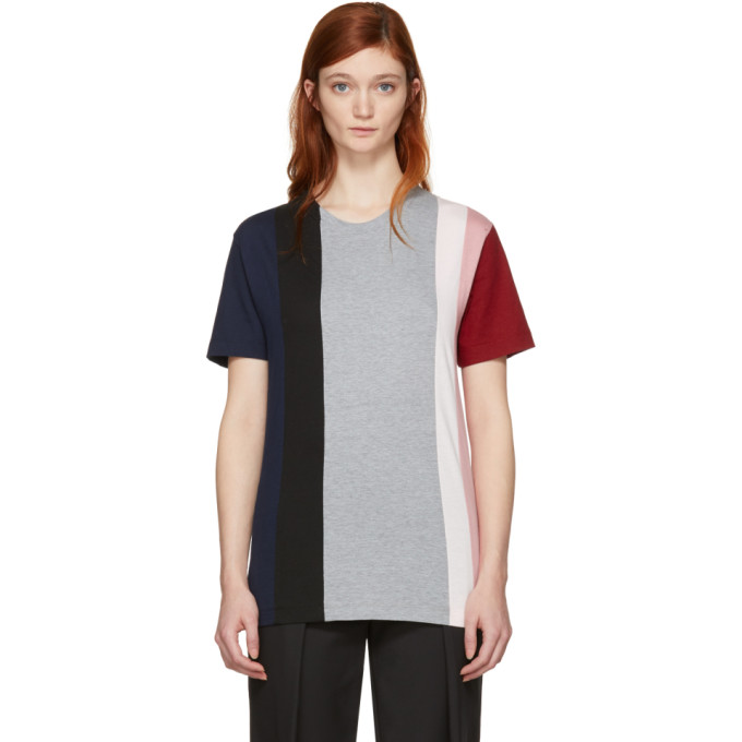 Image of Cédric Charlier Multicolor Fruit of the Loom Edition Contrast Stripe T-Shirt