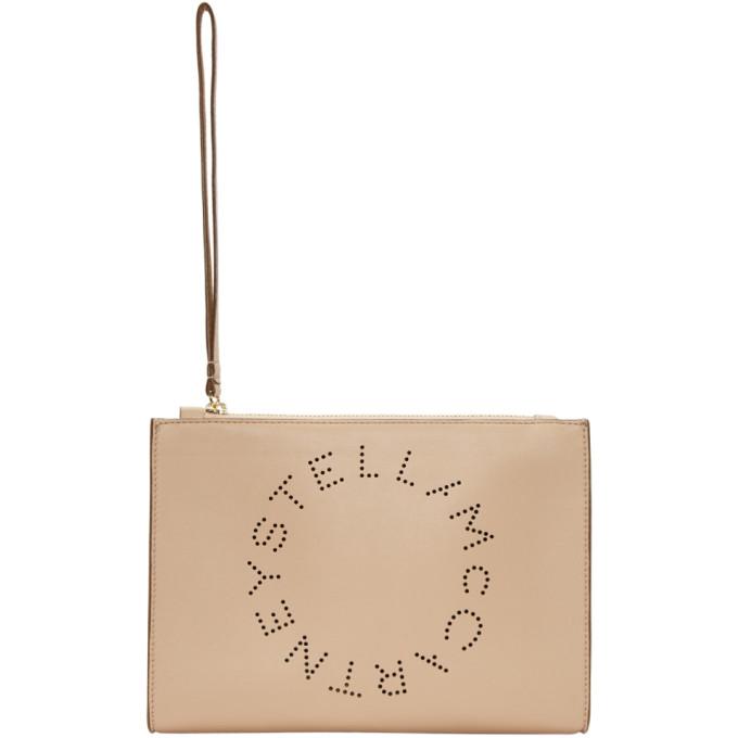 Stella McCartney Pink Logo Clutch