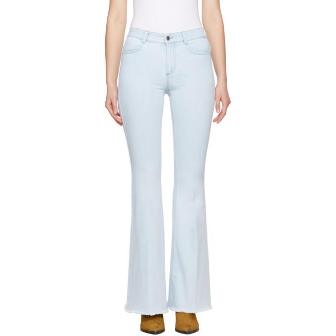 stella mccartney female stella mccartney blue the 70s flare jeans