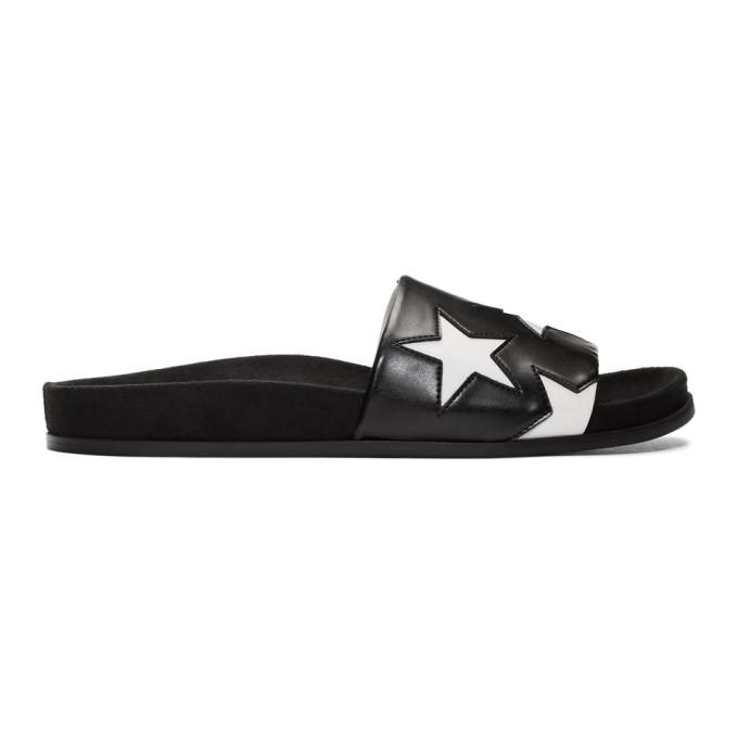 86d00665e37 Stella McCartney Black and White Star Slides