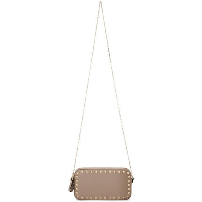 Valentino Pink Valentino Garavani Rockstud Double Zipped Bag