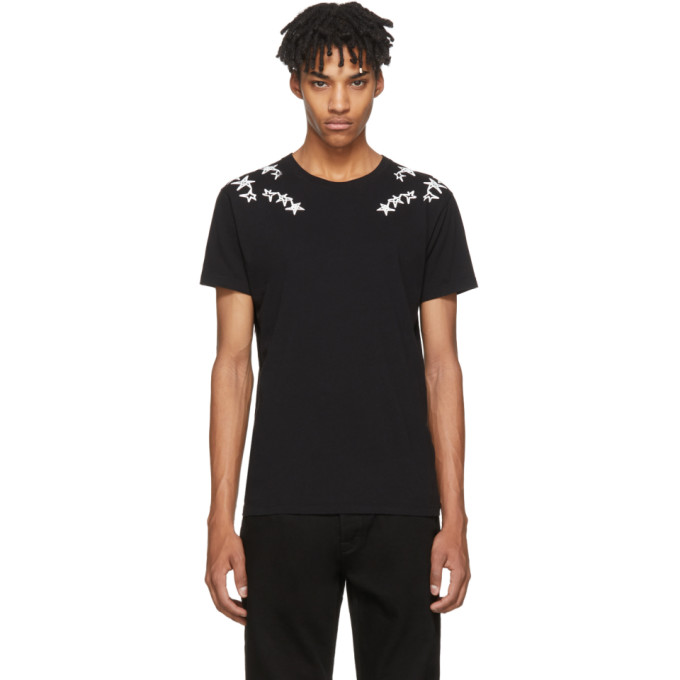 Image of Valentino Black Punk Stars T-Shirt