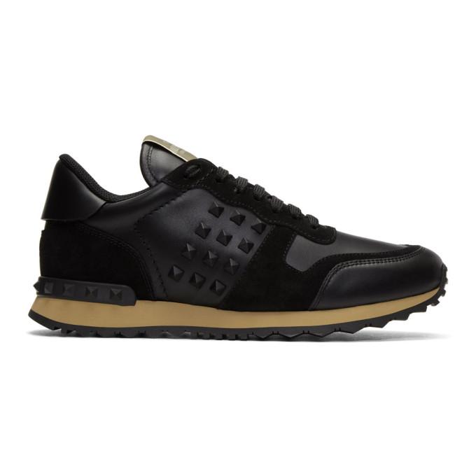 Valentino Black Valentino Garavani Rockstud Sneakers