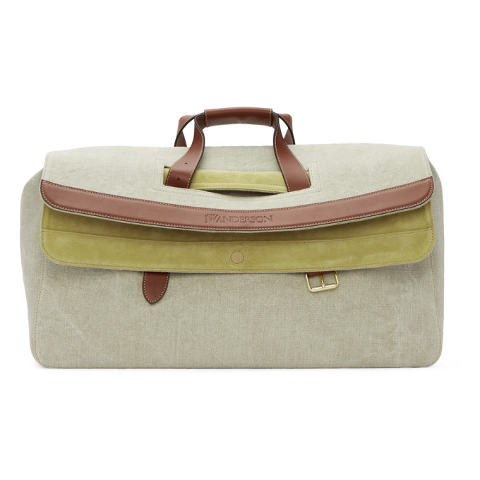 Image of JW Anderson Beige Linen Large Tool Bag