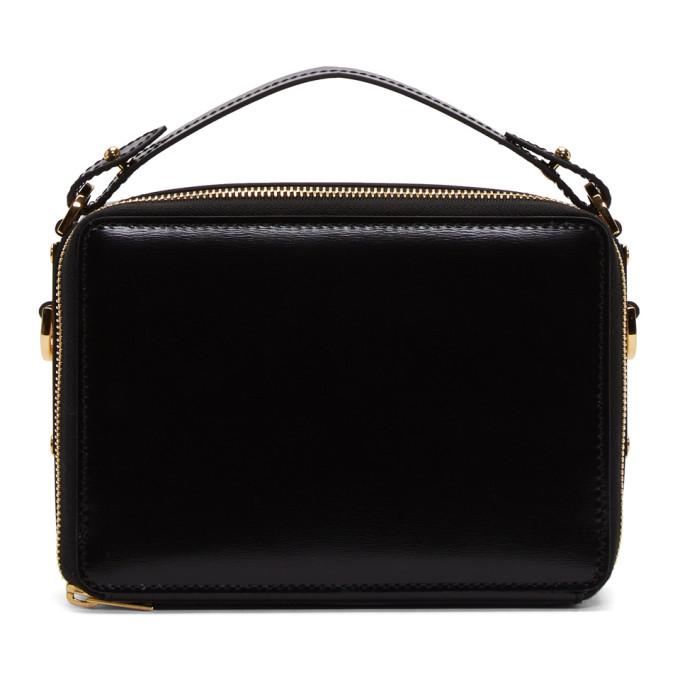 Image of Sophie Hulme Black Mini Trunk Bag