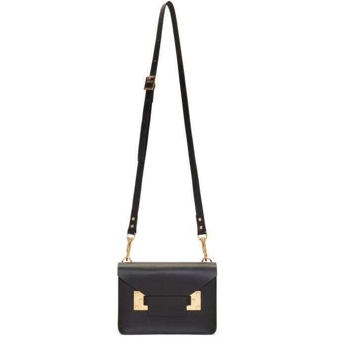 Image of Sophie Hulme Black Mini Milner Crossbody Bag