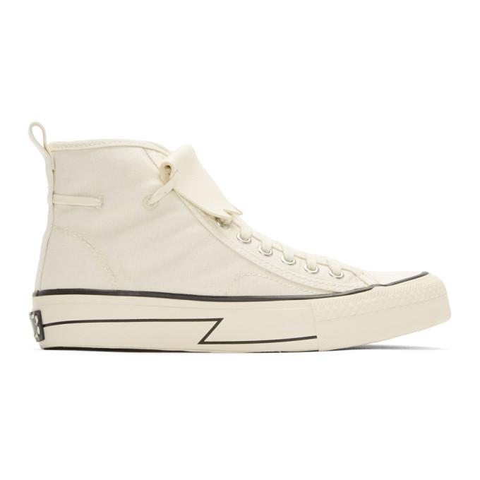 Visvim Ivory Skagway Kiltie High-Top Sneakers