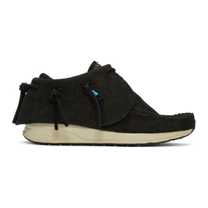 Visvim Black Suede FBT Moccasin Sneakers